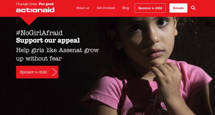 Action Aid screensot